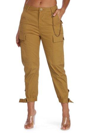 Khaki Chain Reaction Cargo Pants