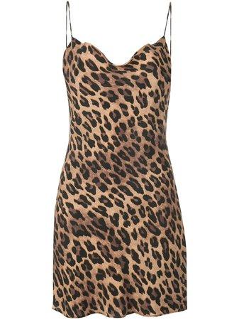 Alice+Olivia Harmony Leopard Slip Dress