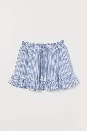 Short Cotton Skirt - Blue