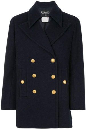 Chanel Pre Owned 1998s double-breasted short coat