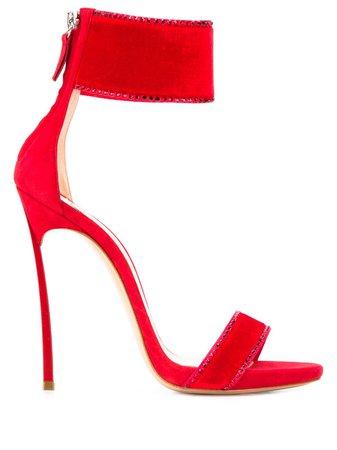 Casadei Ankle Strap Stiletto Sandals - Farfetch