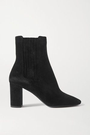 Mica Suede Ankle Boots - Black