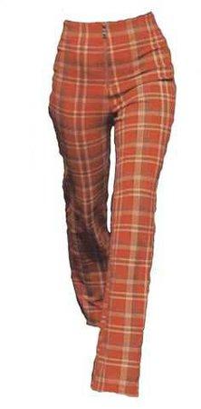 Orange plaid trousers