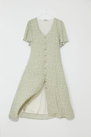 Dress Forum Button-Front Midi Dress | Urban Outfitters