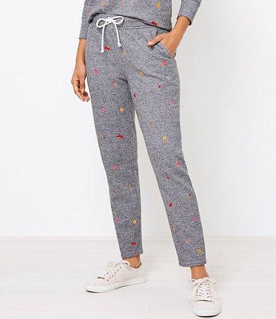 Lou & Grey Heart Emoji Fleeceback Sweatpants