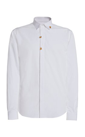 Rochas Embroidered Button Down Shirt