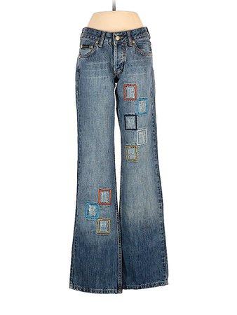 Roberto Cavalli 100% Cotton Solid Blue Jeans 29 Waist - 87% off | thredUP