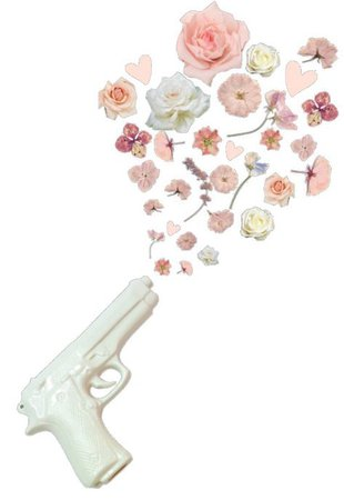 png filler white gun flower pink mood
