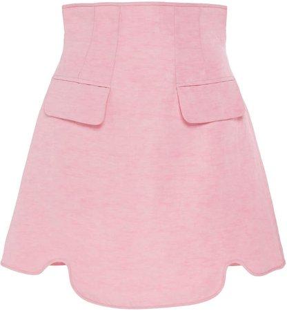 Ellery Pure Reason Corset-Waist Mini Skirt Size: 36