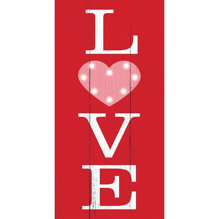 Light-Up Love Easel Sign 7in x 14in   Party City Canada