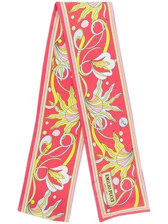 Emilio Pucci Printed Silk-Twill Scarf Aw20 | Farfetch.Com