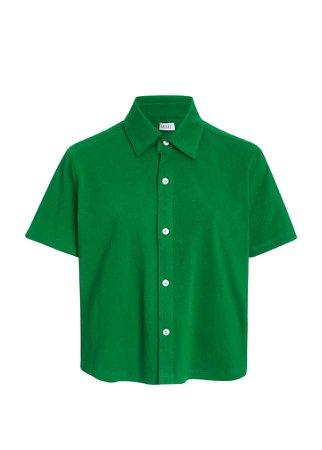 Leset Cotton Polo Top