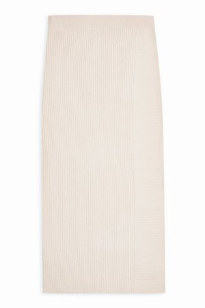 Stone Ribbed Knitted Skirt | Topshop