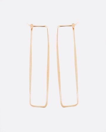 Gold Rectangle Earrings