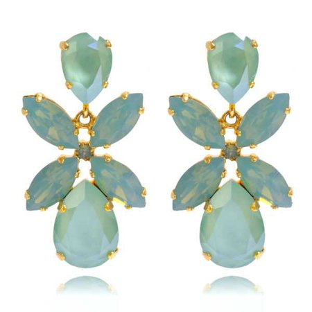 Dione Earrings / Mint Green | Caroline Svedbom Jewelry