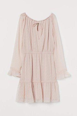 Short Chiffon Dress - Pink