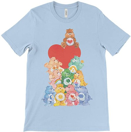 RageOn Care Bears The Whole Classic Gang Premium All Over Print T-Shirt Blizzard Blue | Amazon.com