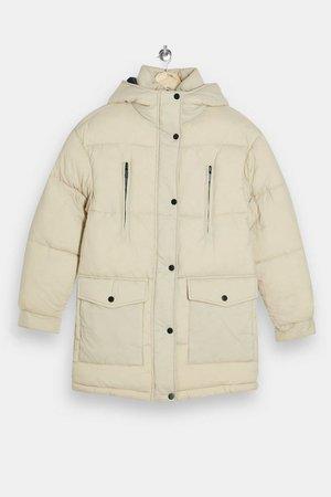 Ecru Padded Puffer Jacket | Topshop
