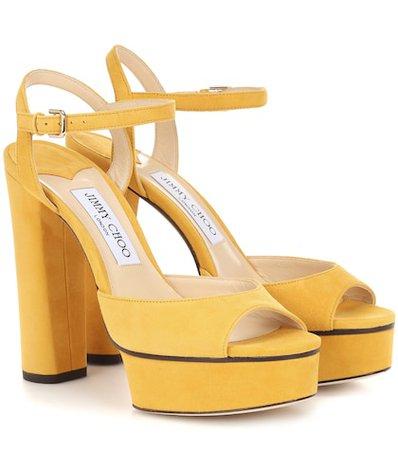 Peachy 125 suede plateau sandals