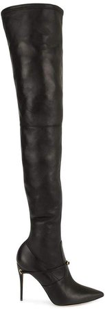 thigh-high removable-strap boots