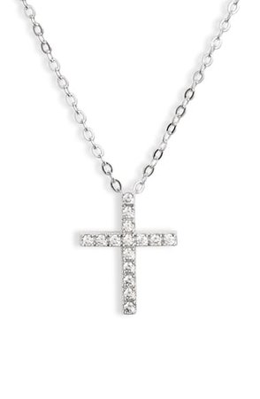 Nordstrom Cubic Zirconia Cross Necklace | Nordstrom