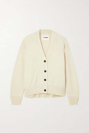 Wool And Alpaca-blend Cardigan - White