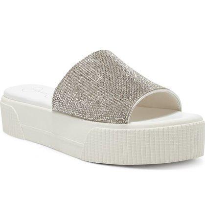 Jessica Simpson Ezira Platform Slide Sandal (Women) | Nordstrom