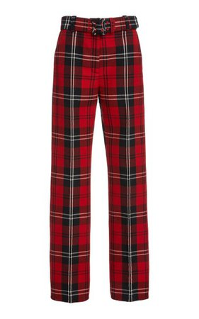 Plaid Wool-Blend Straight-Leg Pants By Marc Jacobs | Moda Operandi