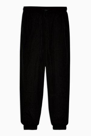 Black Nylon Sweatpants | Topshop