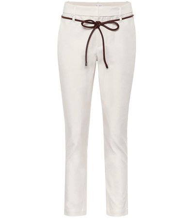 Brunello Cucinelli - Cropped cotton-blend pants | Mytheresa