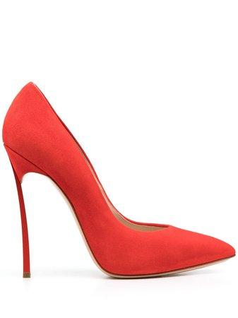Casadei pointed sculpted heel pumps red 1F410D125HHCMSC3 - Farfetch