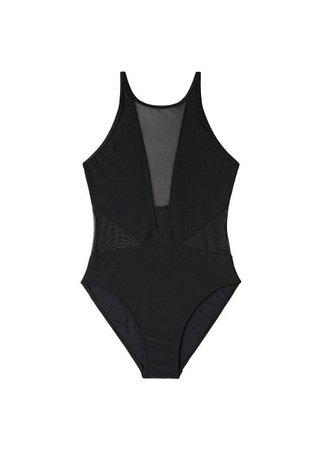 MANGO Sheer panels swimsuit