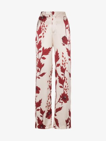 Johanna Ortiz Pissaro silk floral print pyjama trousers   Browns