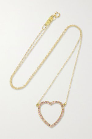 Gold Large Open Heart 18-karat gold sapphire necklace | Jennifer Meyer | NET-A-PORTER
