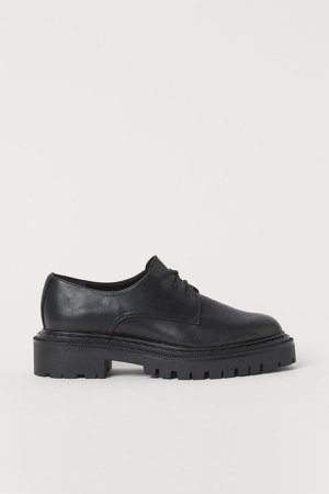 Chunky-soled Shoes - Black