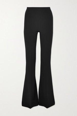 Safiyaa | Halluana stretch-crepe flared pants | NET-A-PORTER.COM