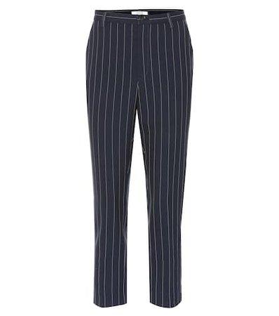 Pinstripe slim pants