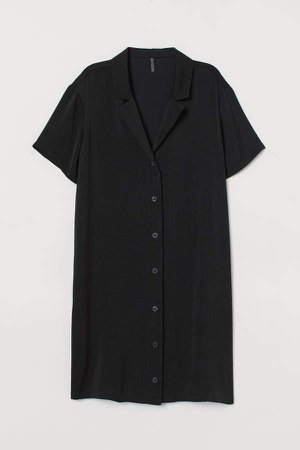 Short Shirt Dress - Black