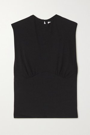 Wilton Stretch Organic Cotton-jersey Tank - Black