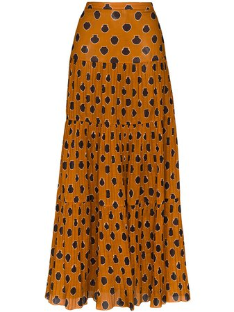 Johanna Ortiz Tiered Graphic-Print Maxi Skirt Ss20 | Farfetch.com
