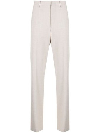 Shop Off-White logo-patch tailored trousers with Express Delivery - Farfetch