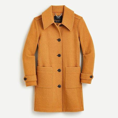 J.Crew: Lady Coat In Italian Boiled Wool For Women brown