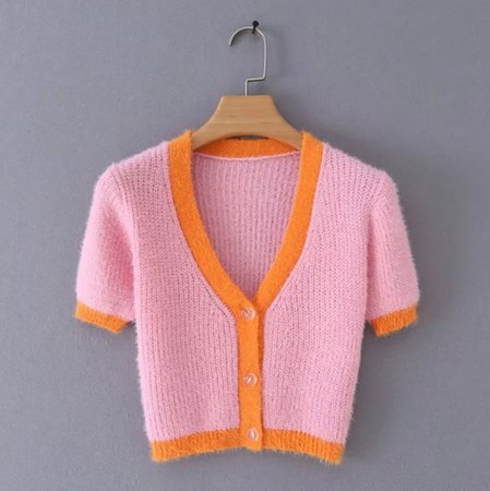 Pink cardigan womens sweaters 2019 korean crop sweater yellow button autumn tops long sleeve v neck short cardigan streetwear-in Cardigans from Women's Clothing on Aliexpress.com   Alibaba Group