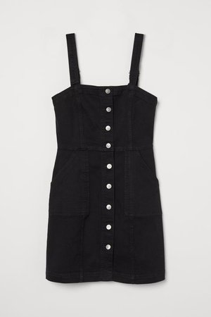 Denim Overall Dress - Black - Ladies | H&M US