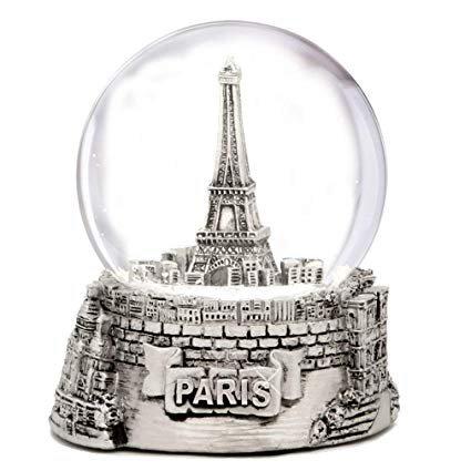 Amazon.com: Mini Silver Paris Eiffel Tower Snow Globe, (2.5 Inches Tall) Paris Snow Globes Collection: Home & Kitchen