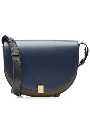 Two-Tone Leather Shoulder Bag Gr. One Size