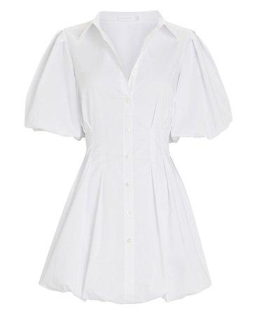 Jonathan Simkhai Cleo Pleated Poplin Shirt Dress | INTERMIX®