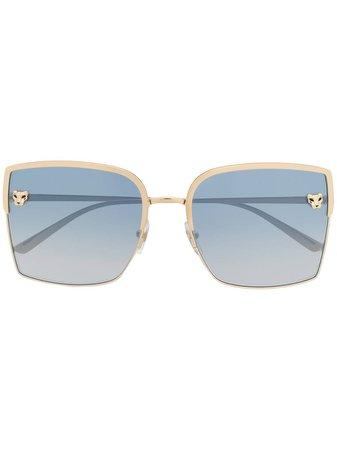 Cartier Eyewear Panthère De Cartier square-frame Sunglasses - Farfetch
