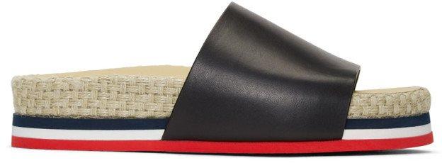 Black Evelyne Flat Sandals