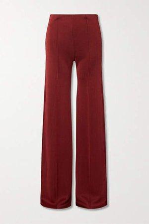 Ponte Wide-leg Pants - Red
